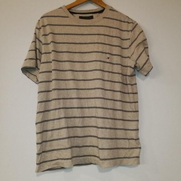 06e51ed2 Tommy Hilfiger Shirts   Beige Striped T Shirt Size M   Poshmark